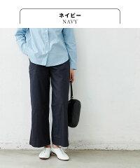 [ワイドパンツレディース春ベイカーパンツ]高評価4.63リネン&コットンベイカーワイドパンツ/日本製メール便可40代50代60代女性ファッションリネンコットン大きいサイズきれいめカーキ綿麻