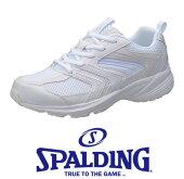 SPALDINGスポルディングJN-926白3E通学シューズ中学生高校生体育スクール