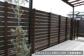 【目隠しフェンス】スタイルフェンスW50×L2000 細めタイプ(※本商品は板材1枚単品部材)【人工ウッド 樹脂フェンス フェンス横張り DIYフェンス】