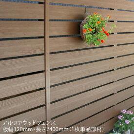 【ディーズフェンス/アルファウッドL2400 横張りタイプ】サイズ:幅120mm【樹脂製フェンス おしゃれな目隠しフェンス 木目調フェンス】