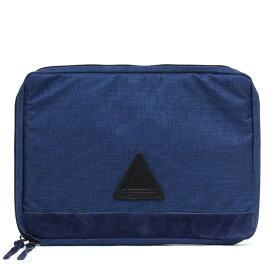 ANONYM CRAFTSMAN DESIGN セルスパンナイロンドキュメントケース クラッチバッグ ブルー ネイビー 青色 13インチ ノート パソコン PC A4 メンズ レディース バッグインバッグ ビジネス