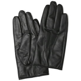 手袋 メンズ 本革 レザー カシミヤ混 カシミア混 ブラック 黒 黒色 日本製 手袋 ラムスキン(仔羊革) グローブ [KURODA(クロダ)]