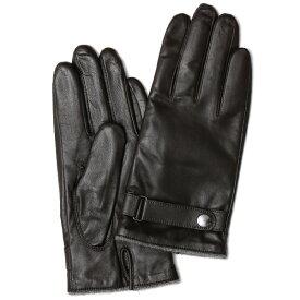 手袋 メンズ 本革 レザー カシミヤ混 カシミア混 ダークブラウンブラウン 茶 茶色 日本製 手袋 ラムスキン(仔羊革) グローブ 皮 てぶくろ [KURODA(クロダ)]
