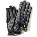 ムーン MOON 手袋 メンズ スマートフォン対応 カシミヤ レザー ベルト付き 日本製 革手袋 防寒 グレー グレイ 灰色 ね…