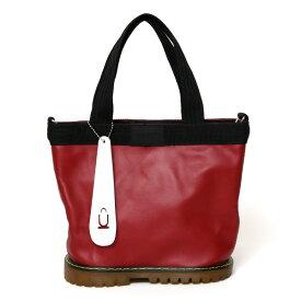 ミニトートバッグ メンズ ブランド ジムバッグ レディース トート レザー 小さめ かばん 自立 底広 レッド ワイン 赤色 ショルダーバッグ 2way 本革 スニーカー バッグ ユニセックス 靴 鞄 D-1TYPE オケル(OKERU)