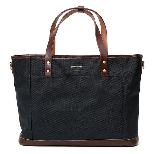 トートバッグ メンズ 本革 日本製 ブランド チョコブラウン 茶 茶色 バリスティックナイロン ビジネスバッグ レディース レザー 鞄 カバン おしゃれ 大人 かわいい ワンダーバゲージ(WONDER BAGGAGE)