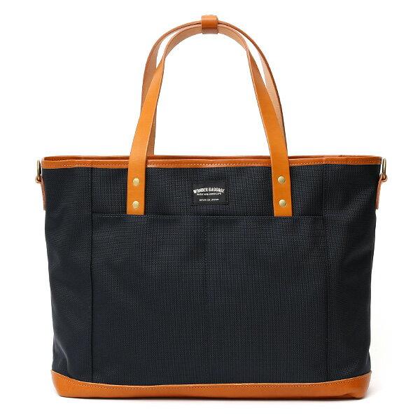トートバッグ メンズ 本革 日本製 ブランド ブルー ネイビー 青色 バリスティックナイロン ビジネスバッグ レディース レザー 鞄 カバン おしゃれ 大人 かわいい ワンダーバゲージ(WONDER BAGGAGE)