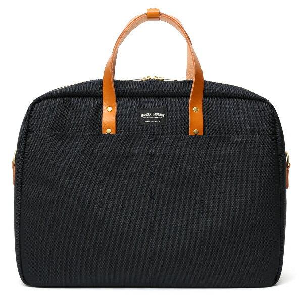 ビジネスバッグ メンズ ブリーフケース ブルー ネイビー 青色 本革 日本製 ブランド レザー ショルダーベルト バリスティックナイロン 鞄 カバン ワンダーバゲージ(WONDER BAGGAGE)