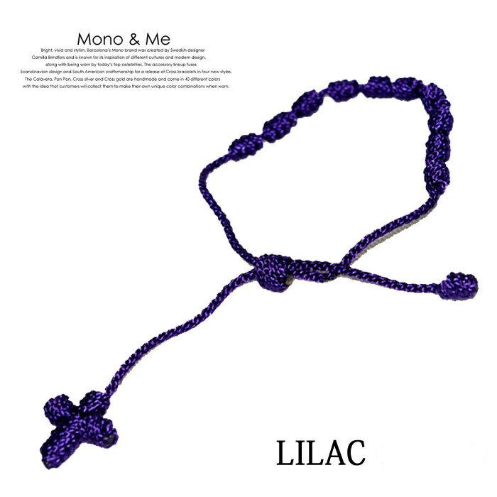 【メール便送料無料】[2012 SPRING SUMMER COLLECTION] クロスブレスレット(ロザリオ) MONO & ME CROSS BRACELET モノアンドミー LILAC(パープル) FT