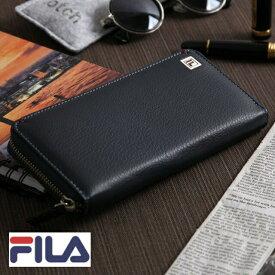 296f5e66bacb メンズ 財布 本革 ブランド ラウンドファスナー フィラ 長財布 FILA 財布 フィラレザー 財布 二