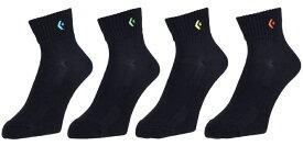 コンバース(converse) 4足セット売りアンクルソックス 丈-約13.5cm バスケットボールウェア ブラック CB160069S