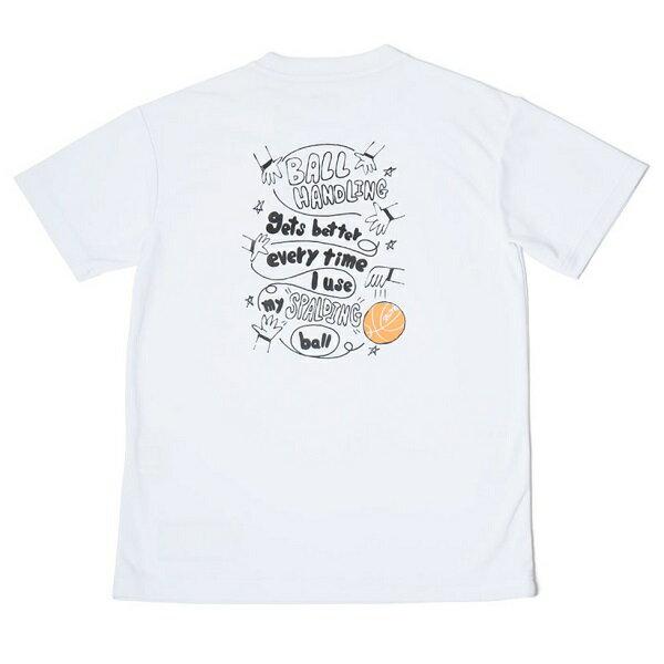 スポルディング Girls Collection Tシャツ-MESSAGE HANDLING レディース用 バスケットボールウェア ホワイト SMT180220