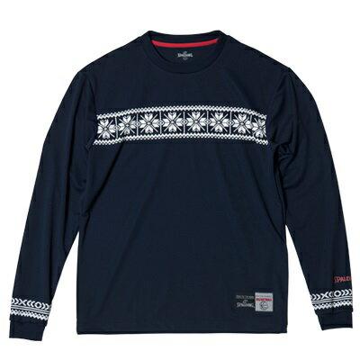 スポルディング(SPALDING) ロングTシャツ-NORDIC 男女兼用 バスケットボールウェア ネイビー SMT181200