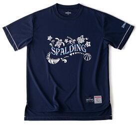 スポルディング レディースTシャツ-POLYNESIAN レディース用 バスケットボールウェア ネイビー SMT190280