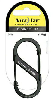 NITEIZE/ knight Aizu S-biner #3 black extreme popularity one-two hook carabiner key ring!