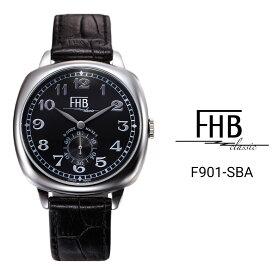 公式 エフエイチビー 腕時計 FHB LIAM リアム F901-SBA メンズ レディース クオーツ レザーベルト スイス製ムーブメント ステンレススチールケース 3気圧防水 クッションケース おしゃれ ギフト 贈り物