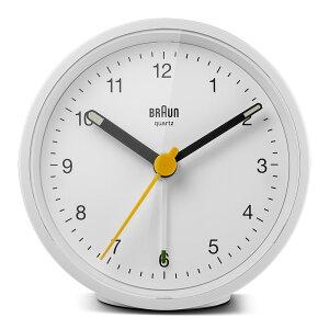 ブラウン 置き時計 BRAUN Classic Analog Alarm Clock BC12W アラーム クロック 卓上 目覚まし時計