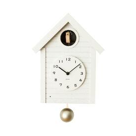 シャンブル 掛け時計 CHAMBRE Cuckoo CLOCK WHITE CH-059WH 鳩時計 日本製 おうち時間 模様替え ウォール クロック 壁掛け時計 壁かけ時計 振り子時計 インテリア おしゃれ 木目調 木製 木材 天然木材