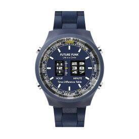 フューチャーファンク 腕時計 FUTURE FUNK FF105-NV ローラー式腕時計 ローラーデジタルウォッチ レトロ 時計 プラスチックケース アナログ デジタル クオーツ ギフト プレゼント