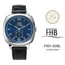 公式 エフエイチビー 25周年モデル 数量限定 腕時計 FHB LIAM リアム F901-SVBL メンズ レディース クオーツ レザーベ…