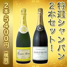 【送料無料】第19弾!豪華絢爛!ご愛顧に大感謝!!数量限定!特選シャンパン2本セット!