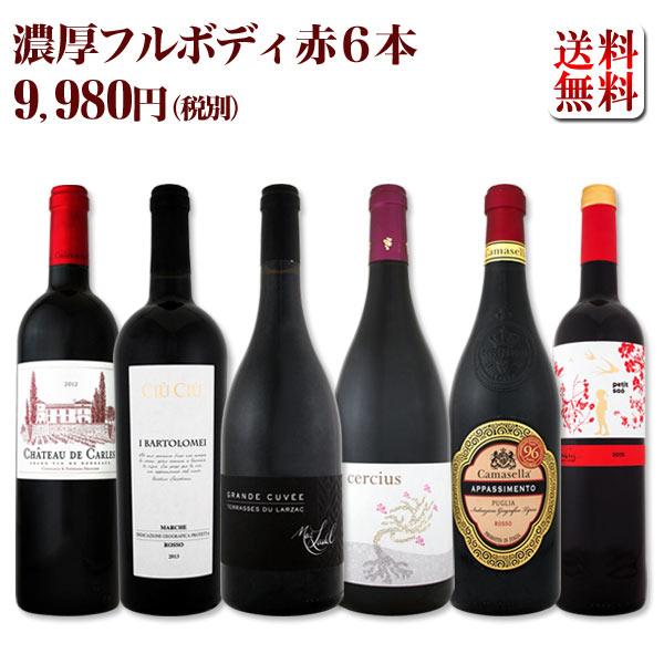 【送料無料】第43弾!≪濃厚赤ワイン好き必見!≫大満足のフルボディ赤ワインセット 6本!