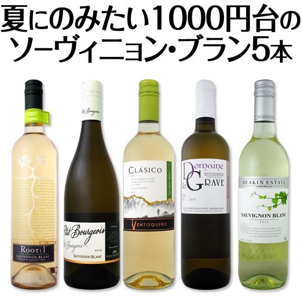 【送料無料】満点5つ星獲得ワインも入って、夏にのみたい1000円台のソーヴィニョン・ブラン厳選5本!