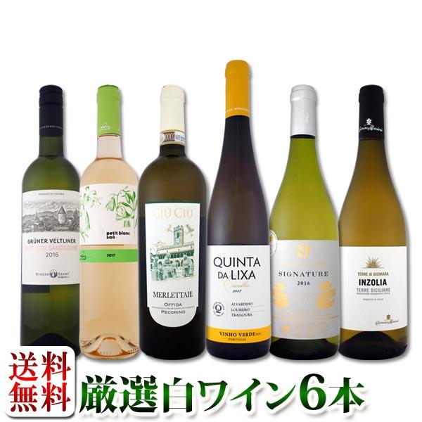 【送料無料】第98弾!当店厳選!これぞ極旨辛口白ワイン!『白ワインを存分に楽しむ!』味わい深いスーパー・セレクト白6本セット