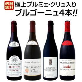 【送料無料】極上プルミェ・クリュ(一級畑)入り★厳選ブルゴーニュ赤ワイン4本セット!