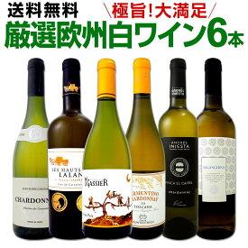 ワイン 【送料無料】第131弾!当店厳選!これぞ極旨辛口白ワイン!『白ワインを存分に楽しむ!』味わい深いスーパー・セレクト白6本セット