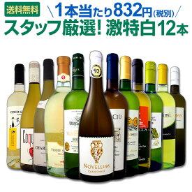 白ワイン セット 【送料無料】第98弾!超特大感謝!≪スタッフ厳選≫の激得白ワインセット 12本!