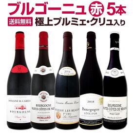 【送料無料】極上プルミェ・クリュ(一級畑)入り★厳選ブルゴーニュ赤ワイン5本セット!