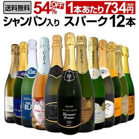【送料無料】第9弾シャンパン入り!辛口スパークリングワイン12本セット!