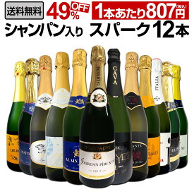 【送料無料】第14弾シャンパン入り!辛口スパークリングワイン12本セット!