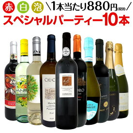 【送料無料】第6弾!必見ベストセラーバラエティ!当店代表する人気一押しワインばかりを集めた渾身の赤白泡スペシャルパーティー10本セット!