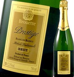 ブルエット・プレステージ ブラン・ド・ブラン ブリュット【フランス】【白スパークリングワイン】【750ml】【辛口】