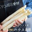【送料無料】フレッシュ ホワイトアスパラ  白アスパラ アスパラ  <フランスロワール産> 【1kg】