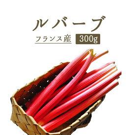 ルバーブ rhubarb 西洋野菜 ジャムやタルトに<フランス> 【300g】 【\350/100g再計算】