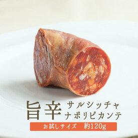 ◆ドライサラミ サルシッチャ ナポリピカンテ(唐辛子入り) salami <イタリア産>【お試しサイズ 120g】【冷蔵品】