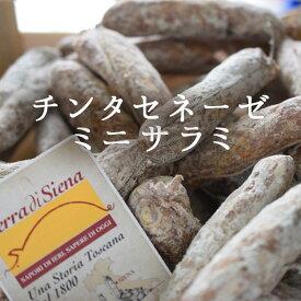 【あす楽】 D.O.P. チンタセネーゼ豚 ミニ サラミ 【1本=約60g】<イタリア>【冷蔵品】