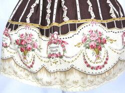 【中古】InnocentWorld/バラとトランプのスカート&ヘッドドレスイノセントワールドB11819_1806