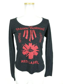 【中古】Vivienne Westwood RED LABEL / オーブ勲章プリント長袖Tシャツ ヴィヴィアンウエストウッドレッドレーベル B15718_1907