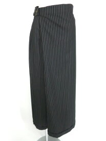 【中古】Jean Paul GAULTIER FEMME / ストライプ柄ラップワイドパンツ ジャンポールゴルチエフェム レディース B17841_2009