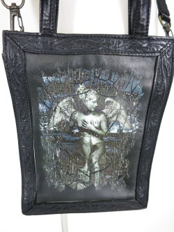 【中古】JeanPaulGAULTIER/天使柄レザーショルダーバッグジャンポールゴルチエB21745_1905