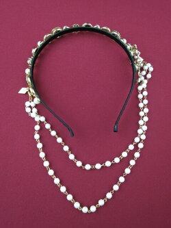 【中古】Metamorphose/jewelryクロスカチューシャメタモルフォーゼタンドゥフィーユB21857_1905
