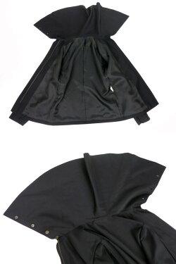 【中古】Moi-meme-Moitie/ケープ衿ジップアップジャケットモワメームモワティエB21904_1905