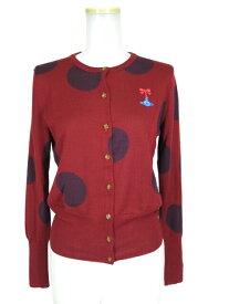 【中古】Vivienne Westwood RED LABEL / リボンオーブ刺繍ドット柄カーディガン ヴィヴィアンウエストウッドレッドレーベル B22388_1906