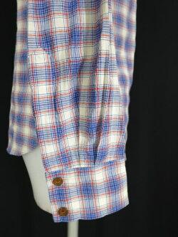 【中古】VivienneWestwoodREDLABEL/オーブ刺繍入りチェック柄ブラウスヴィヴィアンウエストウッドレッドレーベルB22390_1906