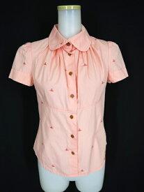 【中古】Vivienne Westwood RED LABEL / オーブ刺繍柄半袖ブラウス ヴィヴィアンウエストウッドレッドレーベル B23034_1906
