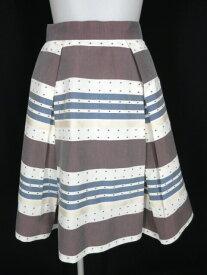 【中古】Vivienne Westwood RED LABEL / ボーダー&ドット柄スカート ヴィヴィアンウエストウッドレッドレーベル B23036_1906